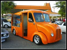 A Divco- This is a 1947 milk truck that we converted into our A&W Float Mobile. Two ice cream dipping cabinets and tap dispensers for the rootbeer, etc. Visalia, CA