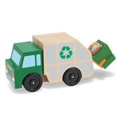 Giocattoli In Legno Camion della Spazzatura con Accessori