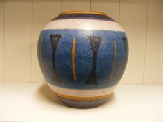 Wachtersbach Etruska Fat Lava vase. van RetroVases op Etsy