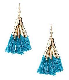 Anna & Ava Elizabeth Tri-Tassel Drop Earrings