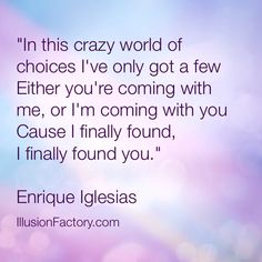 "... more like ""Enrique"" inspiration :o)"