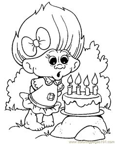 Troll Coloring Pages Find This Pin And More On