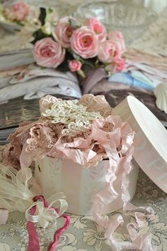 …the magical ~pinks`yfriends ~ with the lace and ribbon muses!…