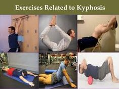 Exercises Related to Kyphosis Exercises Related to Lordosis Kyphosis Exercises, Posture Exercises, Massage Therapy, Physical Education, Yoga Fitness, Physics, Abs, Student, Workout