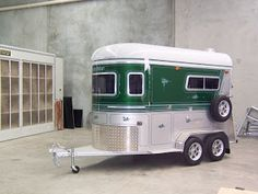 In my search for a new horse trailer, I have found some very interesting specimens out there! I have also found some very strange ads. Two Horses, Cute Horses, Horse Stalls, Horse Barns, Western Horse Tack, Western Saddles, Horse Training Tips, Horse Tips, Dog Trailer