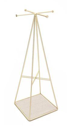 Gift Boutique Prisma Jewelry Stand - Matte Brass