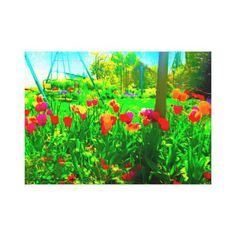 #beauty - #Backyard Garden Canvas Print
