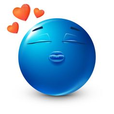 Send someone sweet this smiley that's got a lovable kiss to share. Smiley Symbols, Symbols Emoticons, Funny Emoticons, Blue Emoji, Smiley Emoji, Love Smiley, Emoji Love, Emoji Pictures, Cute Pictures