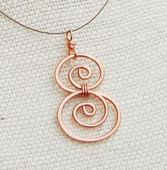 Minimalist Copper Double Spiral Necklace by Karismabykarajewelry, $20.00