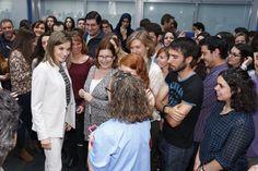 La Reina visitó el Instituto de Investigaciones en Ciencias de la Alimentación. 03-05-2016