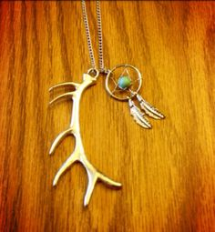 Antler necklace silver antler necklace by CountryOutlawDesigns