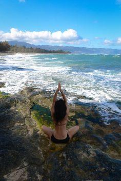 Yoga+beach=peace