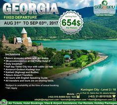 , 163 : Inilah paket tour dan kesempatan lain yang bisa anda dapatkan untuk traveling berpetualang ke Georgia dengan harga terjangkau dan menyenangkan bersama kami. Pesan sekarang juga! -------------------------- Dapatkan juga diskon / voucher dan promo khusus di bulan ini. -------------------------- Hubungi kami atau kunjungi: Kuningan City - Level 2 / 18  Jl. Prof. Dr. Satrio Kav.18 Jakarta.  Check our bio for details.  IG: @satgurutravel.id  FB: fb.com/satgurutravelsid ☎ 021-50101526…