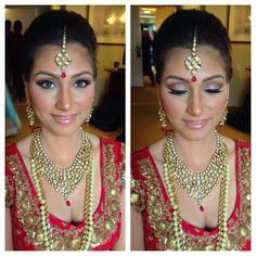 Indian bridal makeup and hair ceremony look lama lehnga dulhan pakistani desi