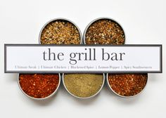 The Grill Bar Spice Kit. Not only for the Grill, try it in the Kitchen. Steak Chicken Spices Herbs Seasoning Cooking Pepper Spicy.. $24.00, via Etsy.