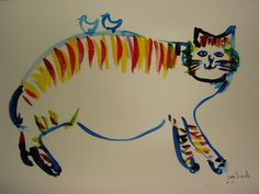 Mr. Pepe Shimada Japanese Artists, Love Art, Cat Art, Cats, Life, Animals, Gatos, Animales, Animaux