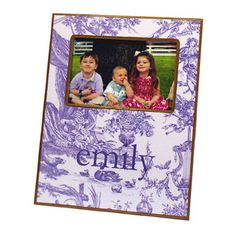 Lavender Toile Decoupage Frame With or Without Personalization MKF459