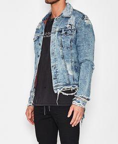 fde9295bc707 The People Vs   Eddie Destroyed Denim Jacket Vintage Indigo