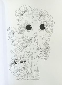 25 x 2 Designs Cute and Whimsical My Besties Fairies – printed on one side of the page Coloring Pages For Girls, Colouring Pics, Coloring Sheets, Coloring Books, Big Eyes Artist, Crafty Fox, Digi Stamps, Cute Drawings, Besties