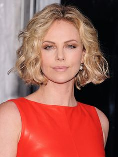 charlize theron celebrity with short hair