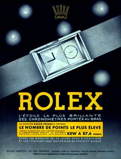 Abstract vintage Rolex ad