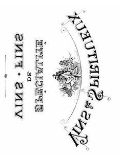 French Transfer Printable Vins Graphicsfairy2.pdf Etiqueta o postal vinntage francesa Vins blanco y negro espejo transferir.