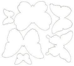схемы бабочек из бумаги