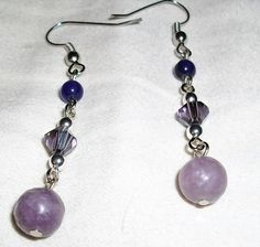 Purple Dangle Earrings by mwadsworth on Etsy, $0.75
