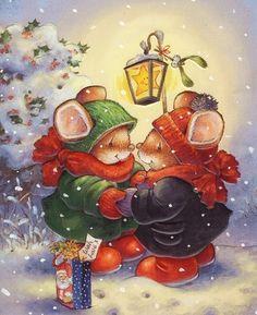 Ideas For Vintage Art Decor Decoupage Christmas Graphics, Christmas Clipart, Vintage Christmas Cards, Christmas Printables, Xmas Cards, Christmas Scenes, Christmas Animals, Christmas Pictures, Christmas Art