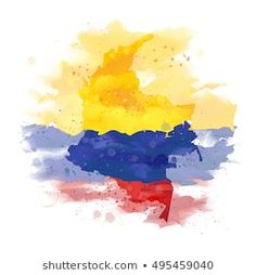 Colombian Map: Imágenes, fotos de stock y vectores   Shutterstock Taurus Tattoos, Map Tattoos, Tatoos, Paint Vector, Map Vector, Vector Free, Colombia Map, Colombian Culture, Epic Tattoo
