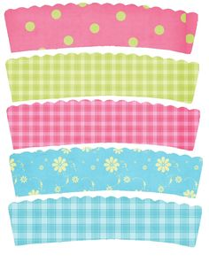 Spring cupcake wrappers-free printable// love these as inspiration for blog designs