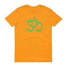 Om Ohm Yoga Symbol LIME GREEN Short-Sleeve T-Shirt