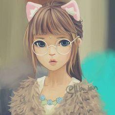 Fül nèlkul pink hajjal