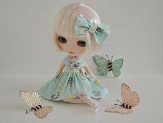 Sweet Petite Retro Kitten Dress and Matching by SweetPetiteShoppe