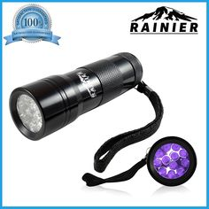 Rainier® Blacklight Flashlight Pet Urine And Stains Detector 12 Led Bright Ultraviolet Flashlight ** You can find more details by visiting the image link.