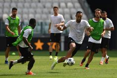 Medhi Benatia of FC Juventus in action during the FC Juventus Media Day at Juventus Stadium di Torino on May 29, 2017 in Turin, Italy.