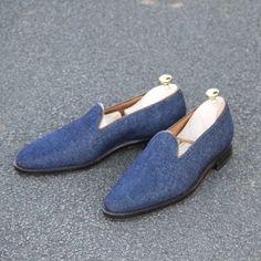 http://chicerman.com  jfitzpatrickfootwear:  The Denim Loafer.your summer answer! #jfitzpatrick #jfitzpatrickfootwear #menswear #mensfashion #mensstyle #mensloafers #mensshoes #loafers #casualshoes #denimshoes #denim #shoes #shoestagram #shoestyle #shoeporn #theshoesnob #theshoesnob84  #menshoes