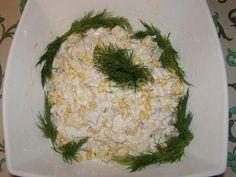 Салат из филе курицы, ананаса, кукурузы и риса