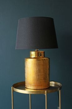 Gorgeous Gold Lamp with Black Shade