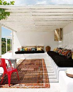 fantastic outdoor area to escape the hot sun, read or nap