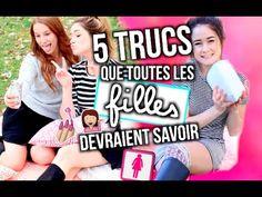 5 TRUCS QUE TOUTES LES FILLES DEVRAIENT SAVOIR!!!   Emma Verde - YouTube Emma Verde, Youtubers, Diy, Image, Every Girl, Stuff Stuff, World, Bricolage, Do It Yourself