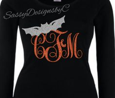 Halloween Monogrammed Shirts by SassyDesignsbyC on Etsy https://www.etsy.com/listing/252026755/halloween-monogrammed-shirts