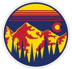 """Colorado Skies"" Stickers by Chris McKnight | Redbubble"