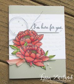 Stampin Blends You Got This card ideas Up peonies rose embossing paste alcohol markers Flower Stamp, Flower Cards, You Ve Got This, Do It Yourself Crafts, Sympathy Cards, Greeting Cards Handmade, Homemade Cards, Stampin Up Cards, Cool Things To Make