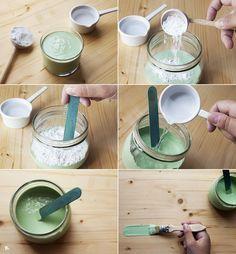 Cómo hacer pintura chalk paint casera (Receta de chalk paint DIY) | conkansei.com Tinta Chalk Paint, Painted Furniture, Diy Furniture, Diy And Crafts, Arts And Crafts, Painting Tips, Diy Art, Decoupage, Diy Home Decor