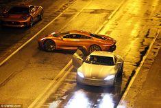 NIGHT STREET LIGHTING..james bond spectre