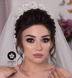Wedding Hairstyles With Crown, Bride Hairstyles, Bride Makeup, Wedding Hair And Makeup, Beauty Makeup, Hair Makeup, Hair Beauty, Wedding Makeover, Girl Actors