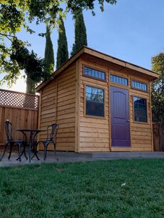 Studio Garden Shed - Outdoor Living Today 1 Backyard Guest Houses, Backyard Studio, Backyard Sheds, Cedar Shed, Cedar Garden, Shed Design, Roof Design, Western Red Cedar Cladding, Vista Garden