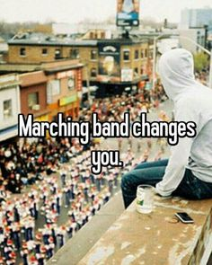 My life would be so different had I not joined marching band! I may not have met my high school sweetheart!