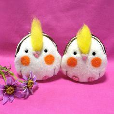 ぷっくらオカメインコのがま口 220 cute fat BIRBS!  Birds!